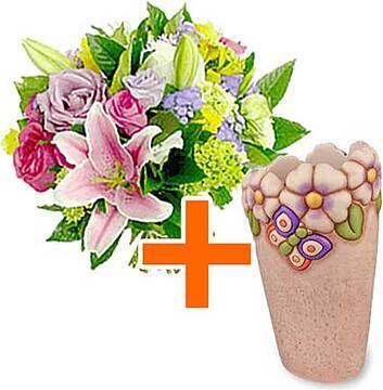 Vaso thun con bouquet di fiori vivaci - Portafoto thun prezzi ...